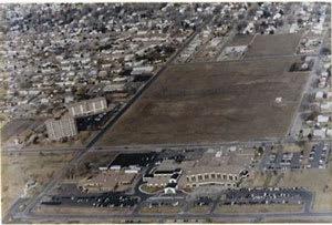 1990 hospital aerial shot