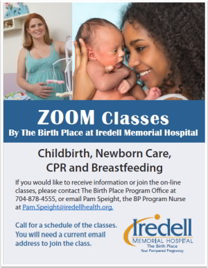 ZOOM Classes - The Birth Place at Iredell Memorial Hospital