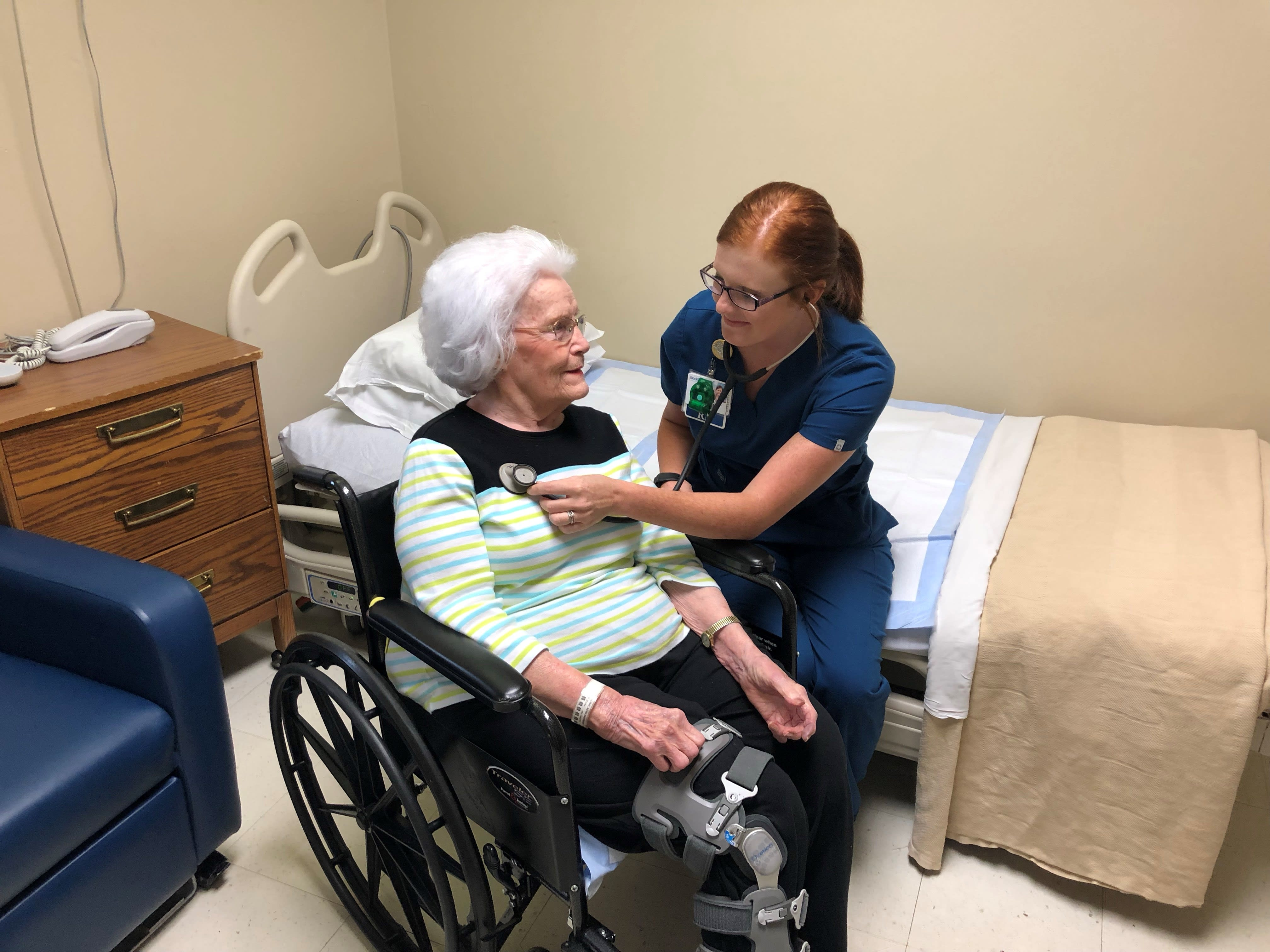 Nurse With Patient Ruth Williams 1