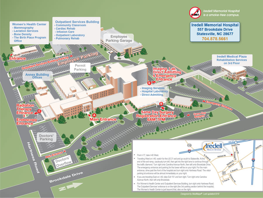 Map of Iredell Memorial Hospital Campus - 2021
