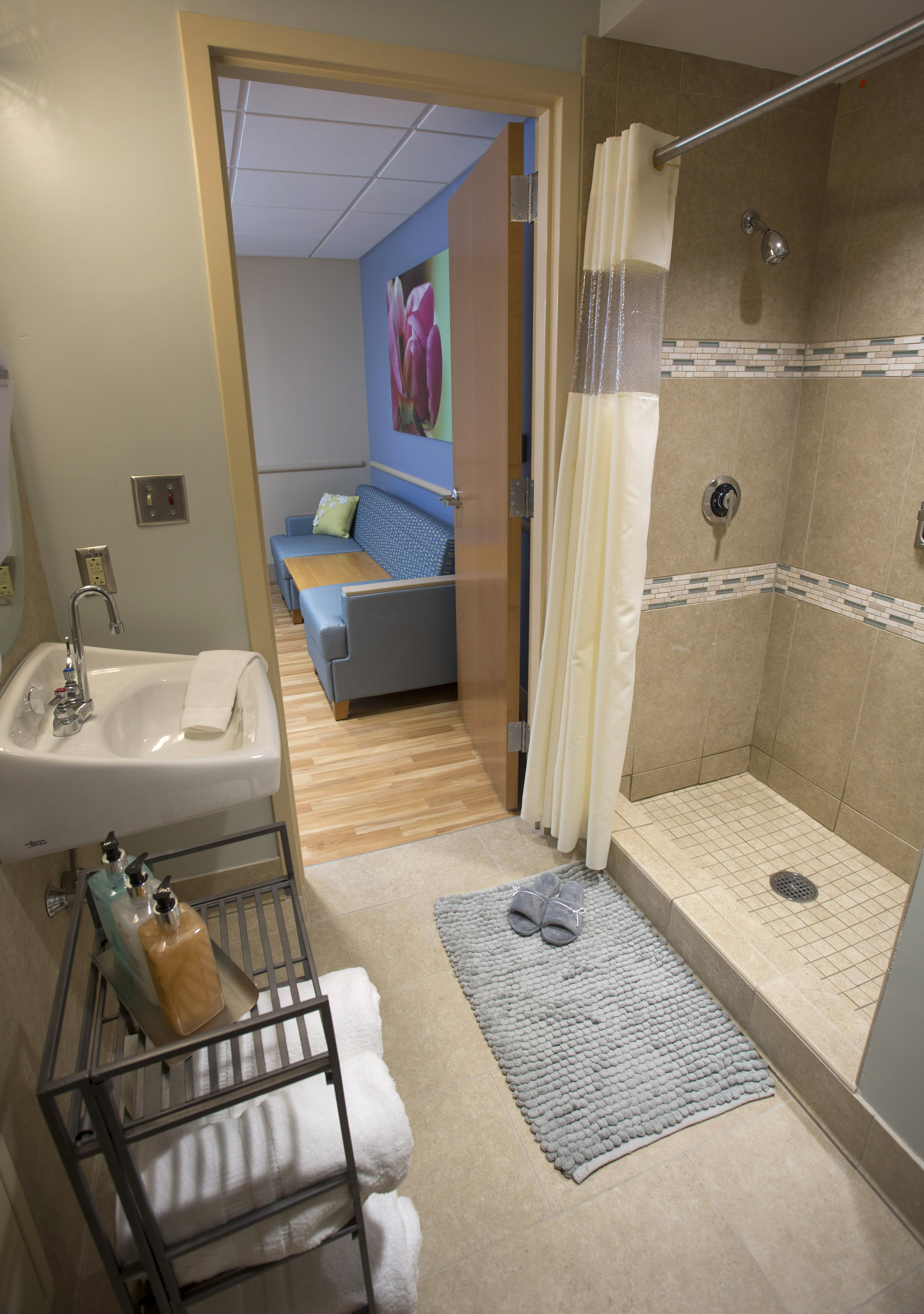 Bathroom at The Family Birth Center