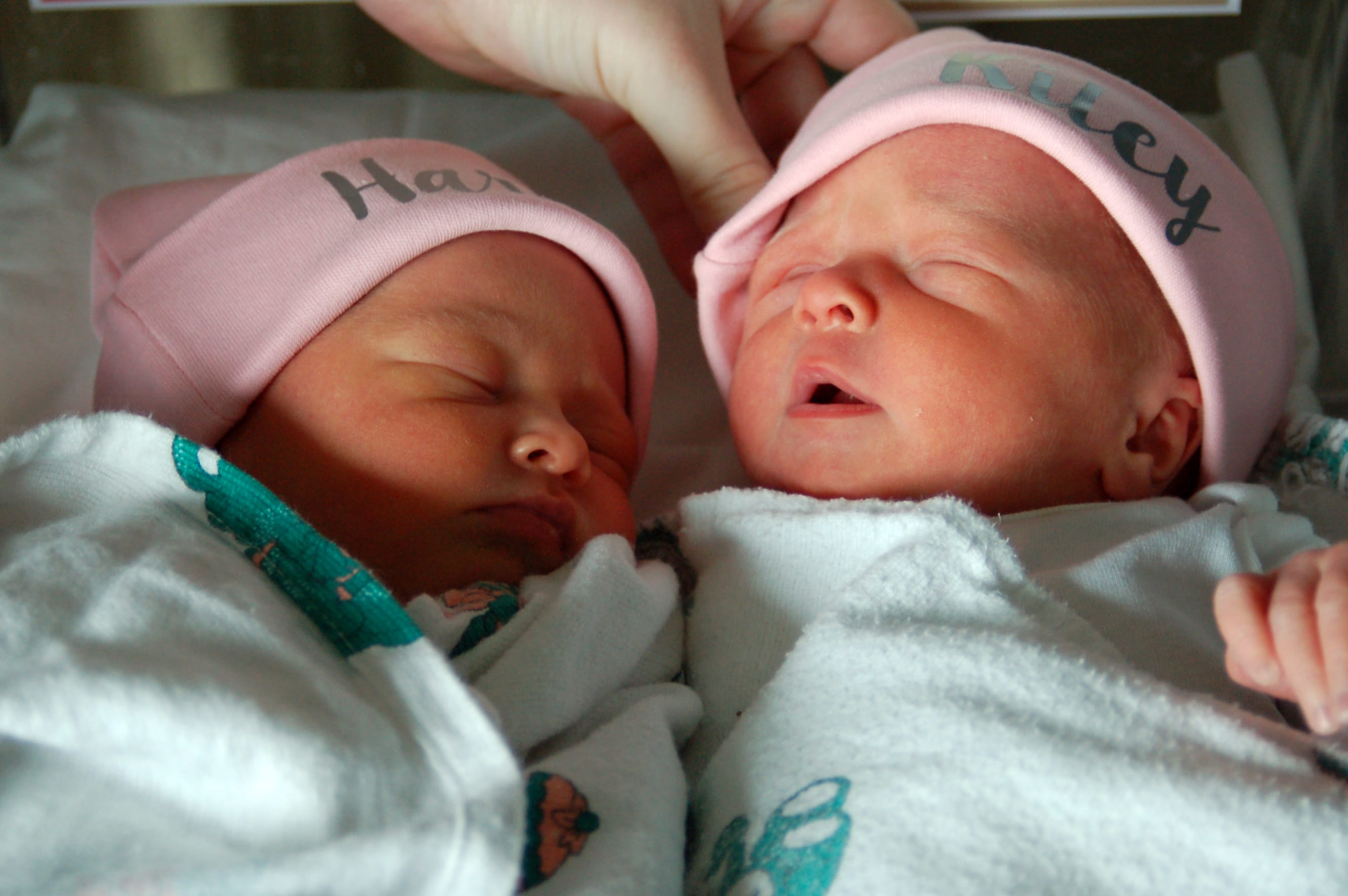 Harley Kay and Riley Mae Hoots are the first babies born at Lake Regional Family Birth Center in 2019.
