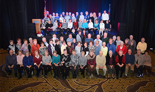 Lake Regional Health System Auxiliary members accepted a 2018 Auxiliary of the Year award on Nov. 9 at the Missouri Hospital Association's annual convention and trade show.