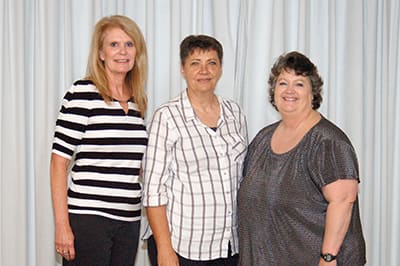 Recipients of the Lake Regional Service Recognition Award for 35 years of continuous service were Karen Bischof, Jo Anne Gitchell and Kathleen Bybee. Not pictured are Beth Goss and Irene Loboda.