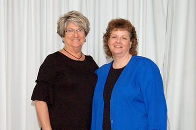 Recipients of the Lake Regional Service Recognition Award for 30 years of continuous service were Maureen Leenerts and Roberta Murray. Not pictured is Claris Kirkpatrick.