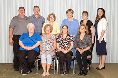 Lake Regional recognized a total of 17 employees for 20 years of service.