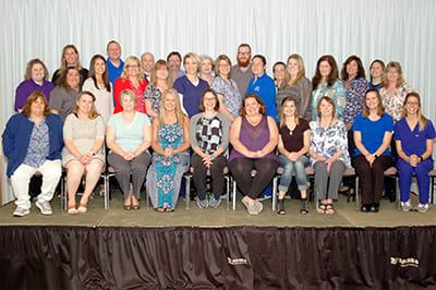 Lake Regional recognized a total of 53 employees for 10 years of service.