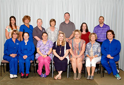 Lake Regional recognized a total of 34 employees for five years of service.
