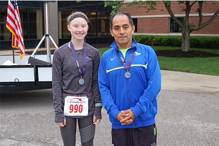 The overall winners were Jade Fletcher (23:56), women's division, and Nigher Alfaro (20:19), men's division.