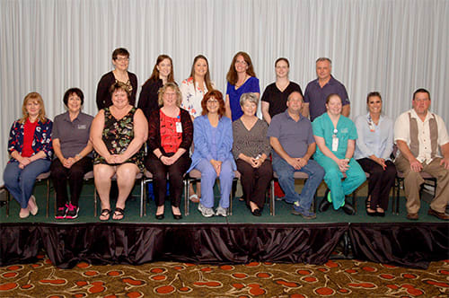 Lake Regional recognized 42 employees for five years of continuous service.