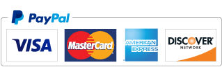 PayPal accepts Visa, MasterCard, American Express, and Discover