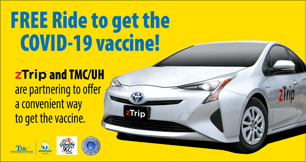 Free Ride to get the COVID-19 vaccine!