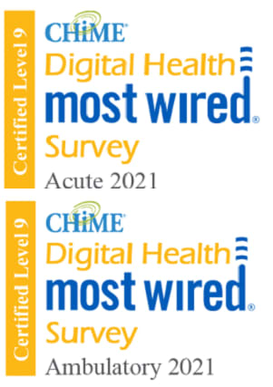 CHIME Digital Health Most Wired Award 2021