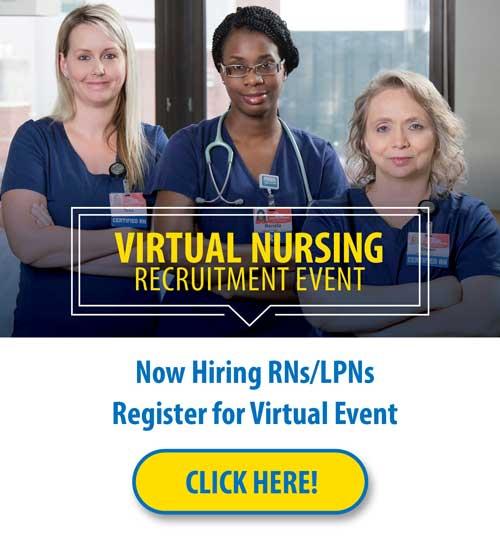 Virtual nursing recruitment event