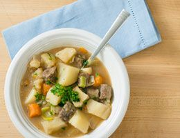 A bowl of American Irish stew