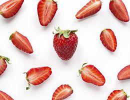 Sliced strawberries.