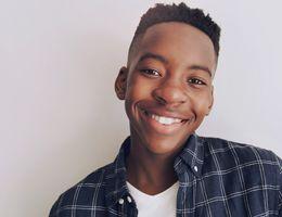 Smiling African American teenage boy