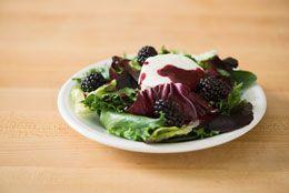 Baby greens with blackberry vinaigrette
