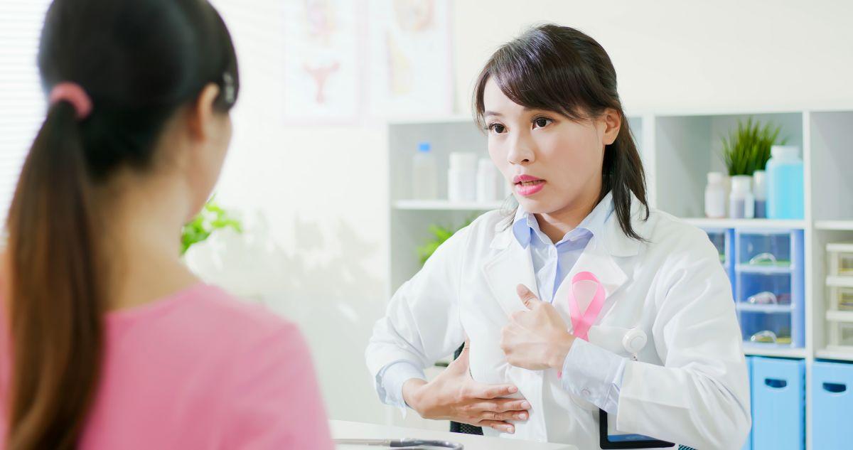 Doctor Teaching Breast Self-Exam