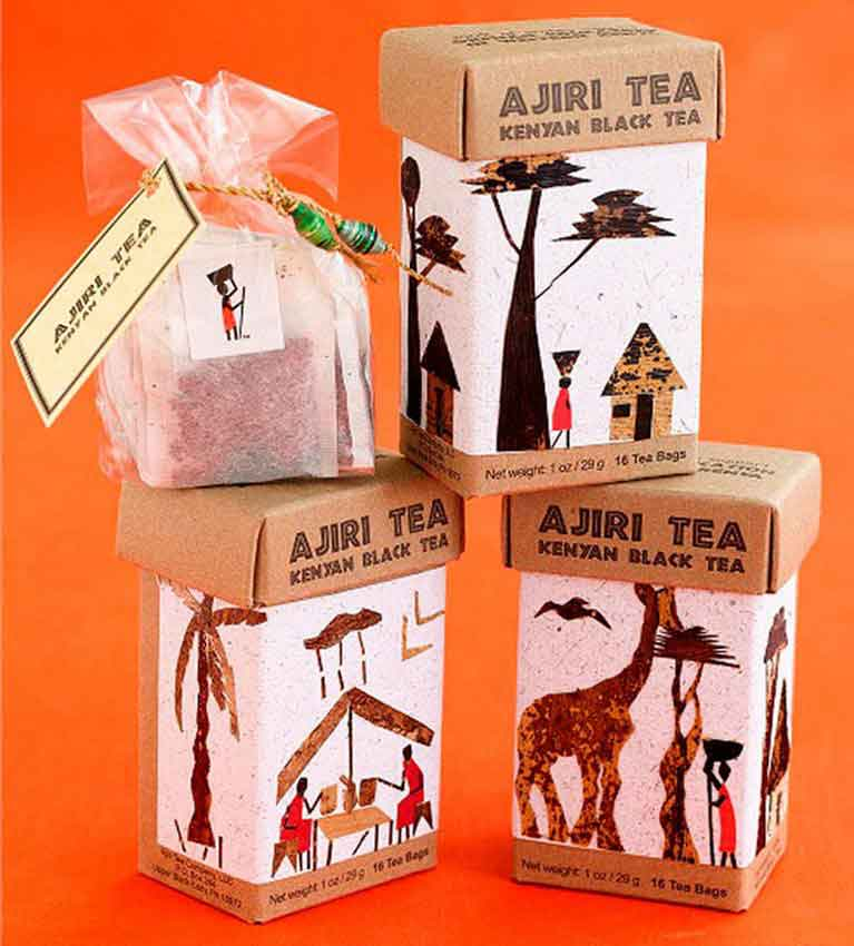 Ручная упаковка чая Ajiri Tea