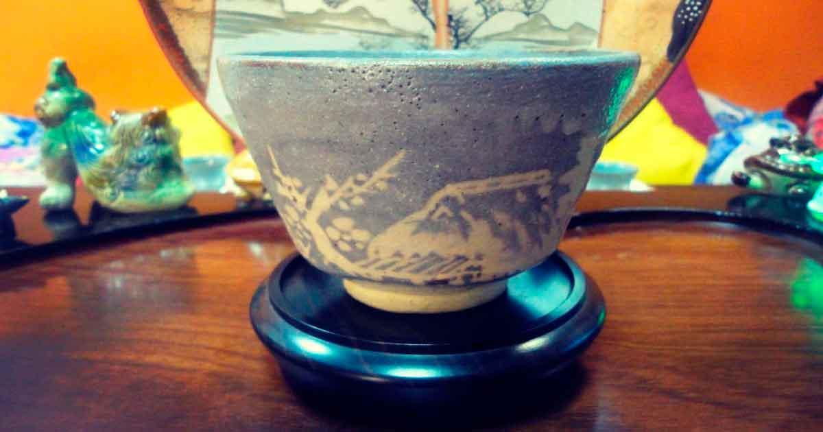 Старинный Нэдзуми Сино тяван 1960/70х годов. Мастер неизвестен
