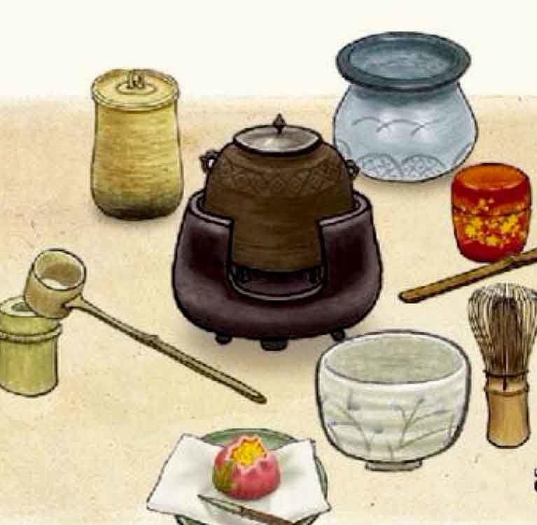Чайные предметы Такэно Дзёо