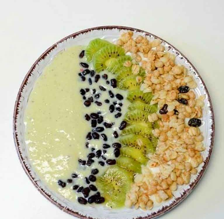 Матча пудинг с семенами Чиа