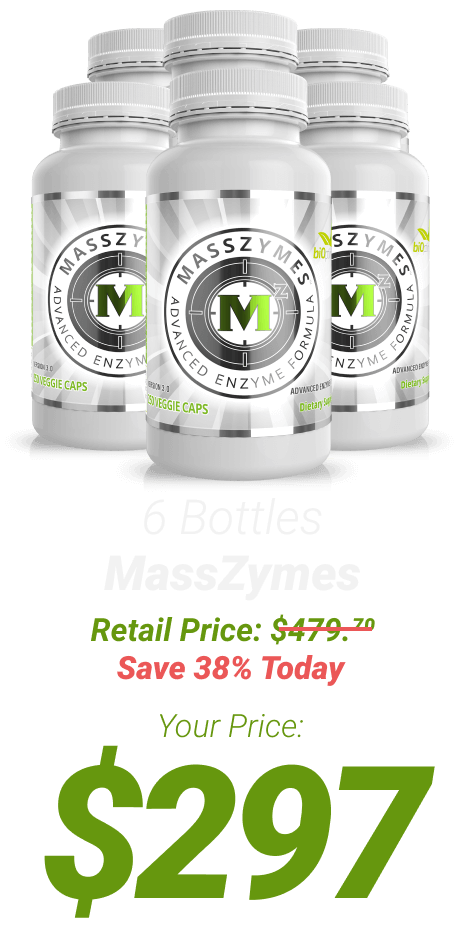 6 bottles MassZymes at $297