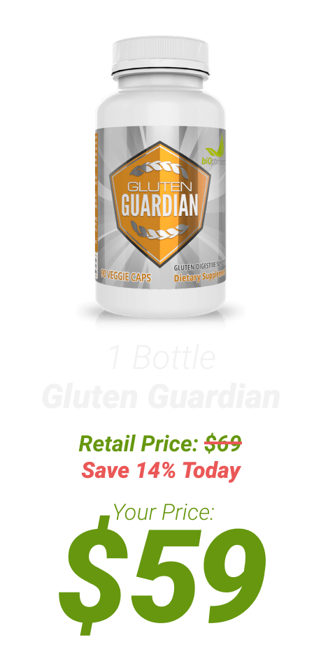 1 bottle of Gluten Guardian at $59 - One Time Supply