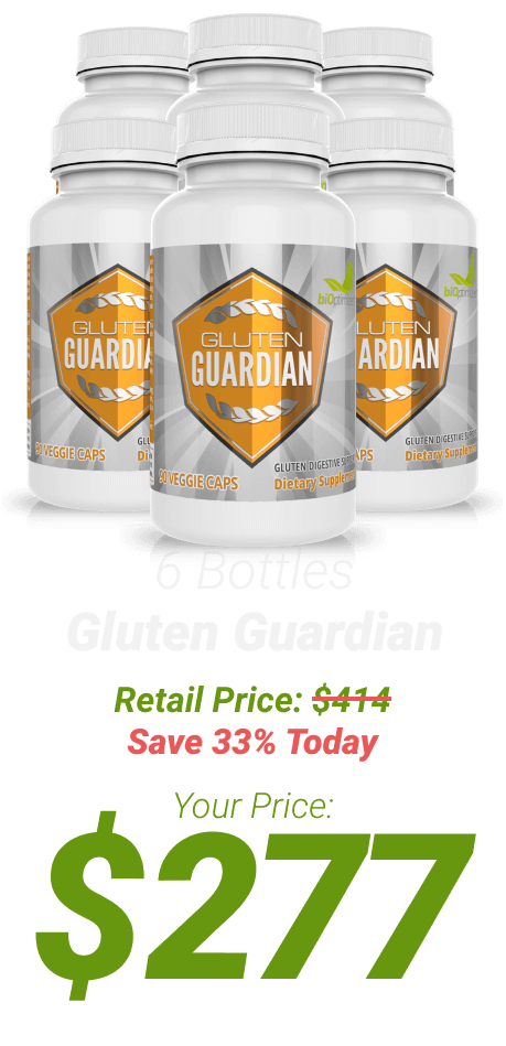 6 bottles of Gluten Guardian at $277 - One Time Supply