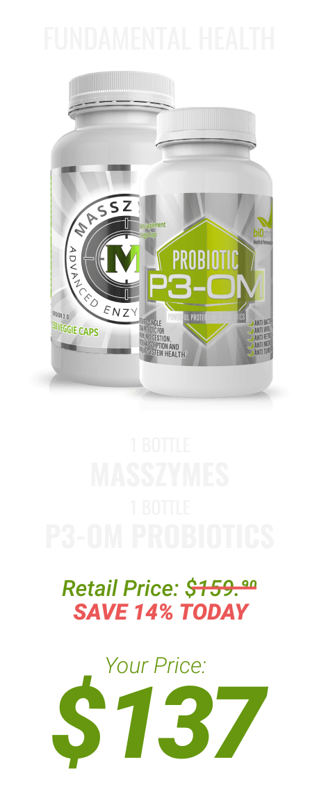 1 bottle MassZymes and P3-OM™ at $137