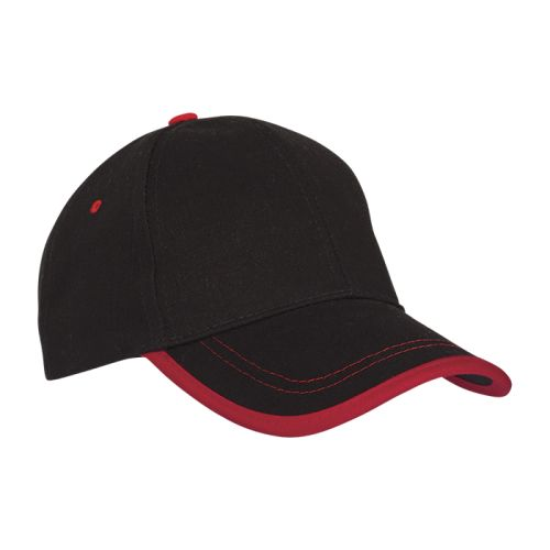 https://res.cloudinary.com/dpprkard7/c_scale,w_500/barron-clothing/6-panel-canvas-binding-cap-black/red.jpg