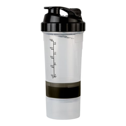 Default image for the Barron Clothing Clothing 600ml Shaker With Two Bottom Compartments