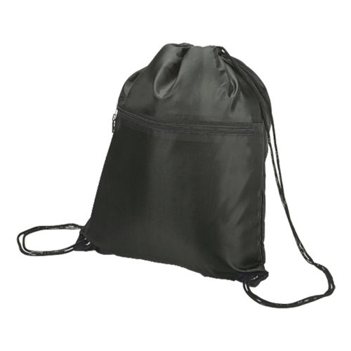 Default image for the Barron Clothing Clothing Drawstring Sport Bag With Zip Pocket - 210D