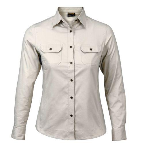 https://res.cloudinary.com/dpprkard7/c_scale,w_500/barron-clothing/ladies-bush-shirt-long-sleeve-(llo-lbush)-stone.jpg