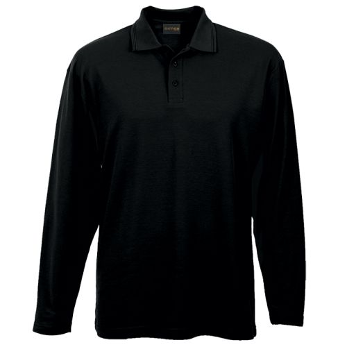 Default image for the Barron Clothing Clothing Mens 175g Pique Knit Long Sleeve Golfer
