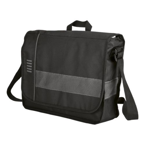 Default image for the Barron Clothing Clothing Messenger Bag With Mesh Trim - 600D