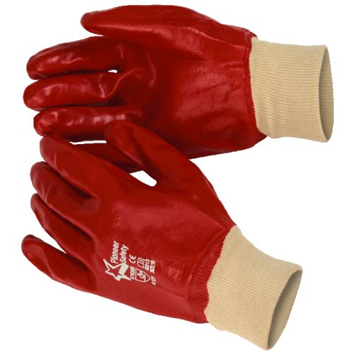 Default image for the Barron Clothing Clothing Red PVC Knit Wrist Glove (Box of 120) (PVC003)
