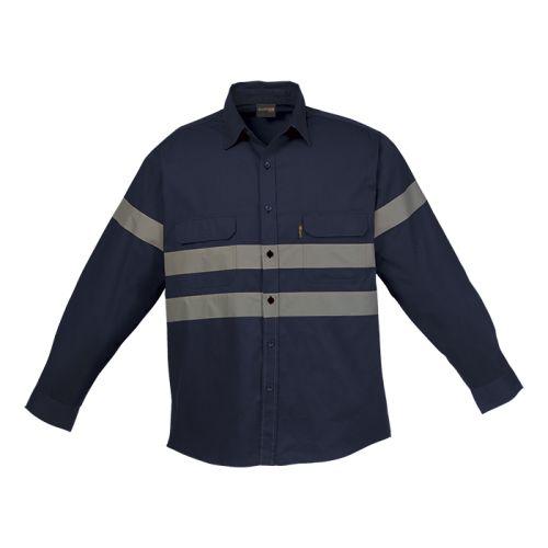 Default image for the Barron Clothing Clothing Shaft Safety Shirt Long Sleeve