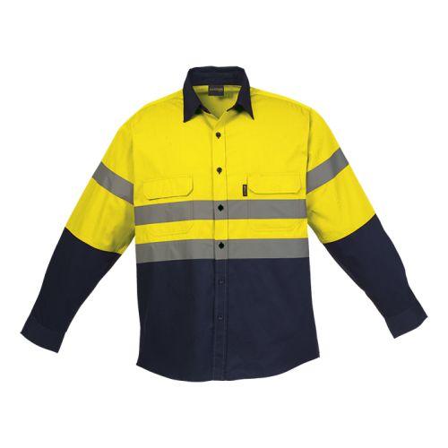 https://res.cloudinary.com/dpprkard7/c_scale,w_500/barron-clothing/shaft-safety-shirt-long-sleeve-navy/yellow.jpg