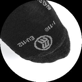 Socken mit Notrufnummer