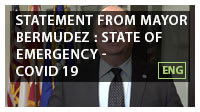 Statement from Mayor Bermudez : State of Emergency- COVID 19