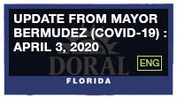 Update from Mayor Bermudez (COVID-19) : April 3, 2020