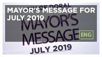 Mayor's Message for July 2019
