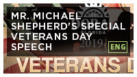 Mr. Michael Shepherd's Special Veterans Day Speech