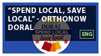 'Spend Local, Save Local' - OrthoNOW Doral ENG
