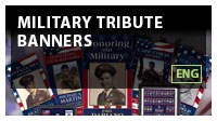 Military Tribute Banners