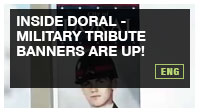 Inside Doral - Military Tribute Banners Are Up!