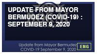 Update from Mayor Bermudez (COVID-19) : September 9, 2020