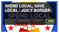 Spend Local, Save Local - Juicy Burger